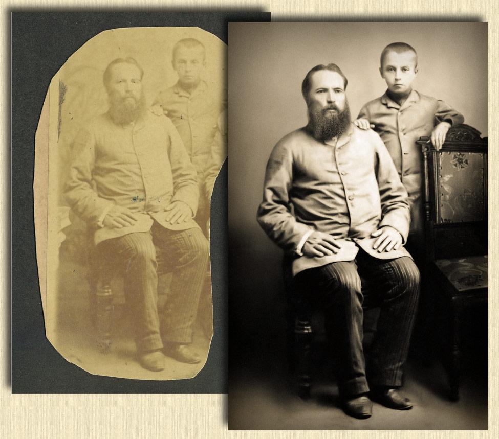реставрация восстановление старых фотографий